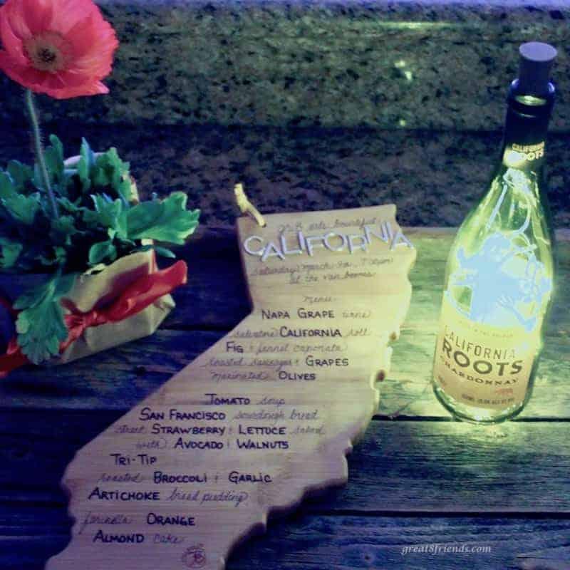 California Cuisine dinner party invitation