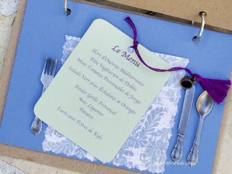 Photo of menu page of Provence invitation