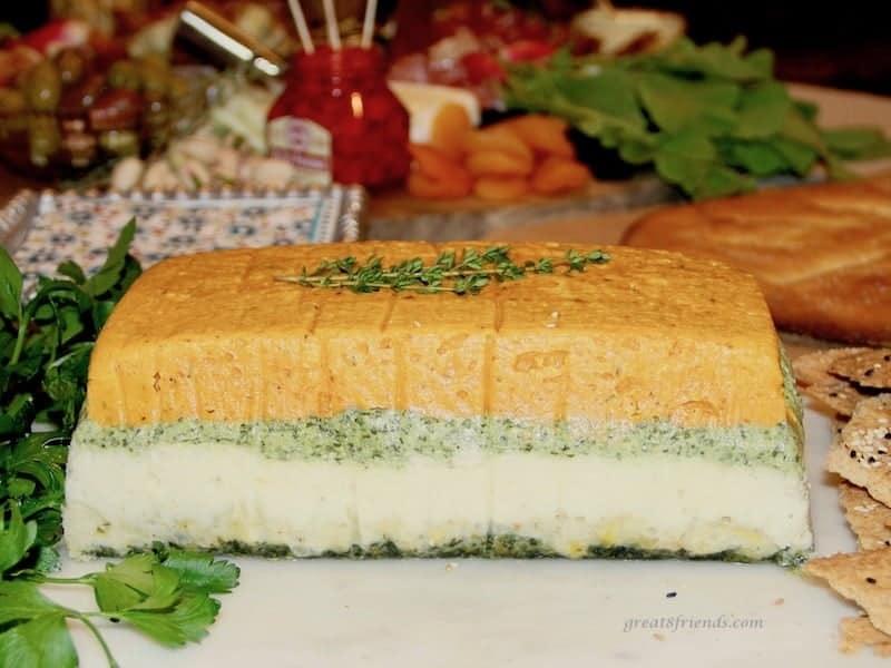 layered vegetable pâte