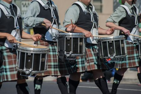 St. Patrick's Day parade drummers