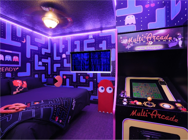 """From mmos to rpgs to racing games, check out 14 o. The Ms. Pac-Man Bedroom at The Great Escape Parkside """"Game ..."""