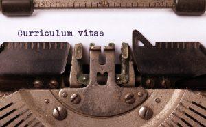typmachine met curriculum vitae