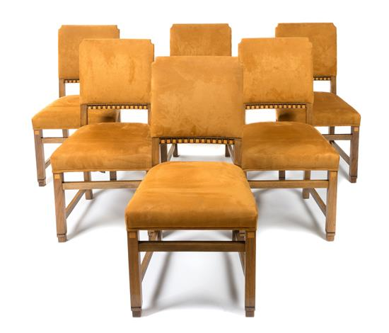 Set Of Six Continental Art Deco Inlaid Dining Chairs Great Finds