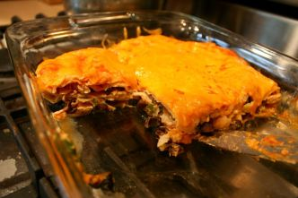 gluten free red enchilada casserole