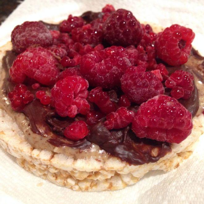 Berry Chocolate Almond Rice Cake