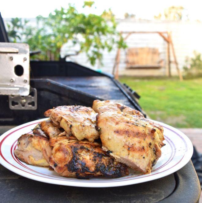Grilled Lemon Walnut Chicken