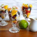 Fruit Salad with Vegan Lime Sauce