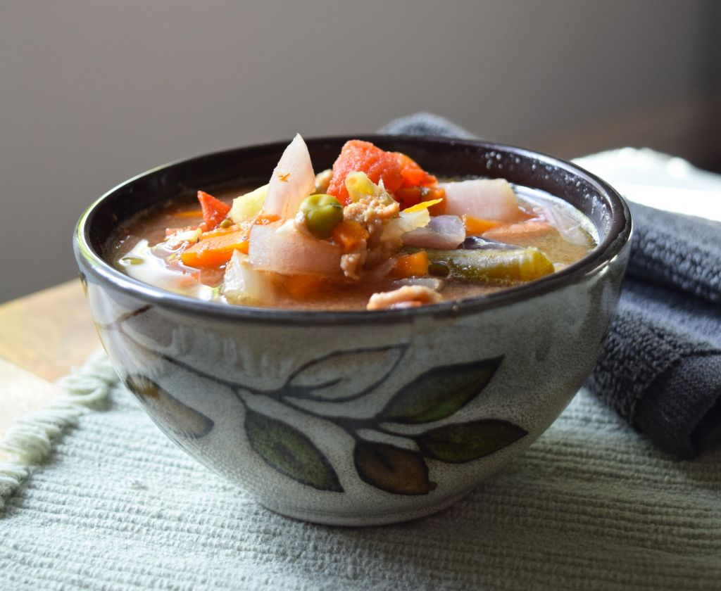 Slow Cooker Turkey Vegetable Soup