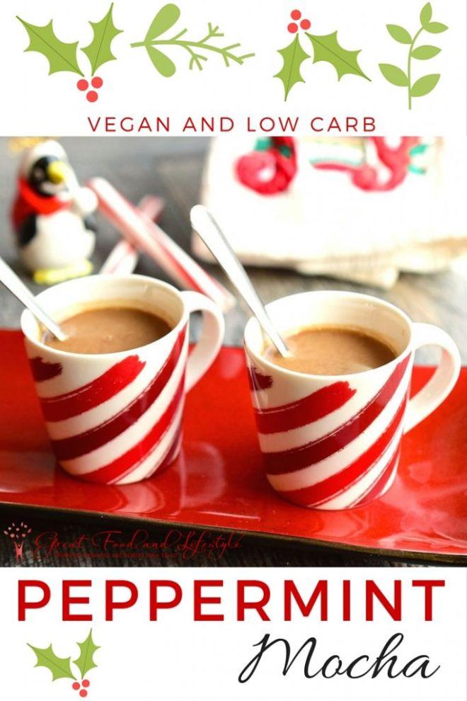 Low Carb Vegan Peppermint Mocha