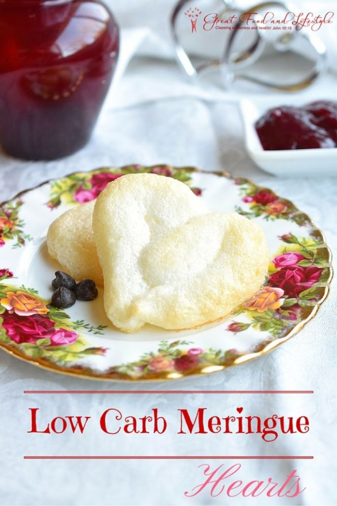 Low Carb Meringue Hearts