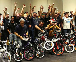 bikes for team building charity
