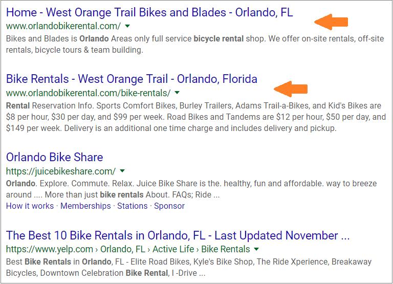 bike rentals orlando