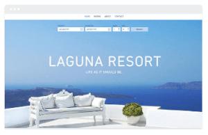 wix resort template