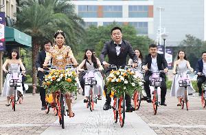 wedding bike brigade