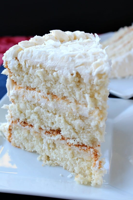 Mango Cake With Buttercream Frosting