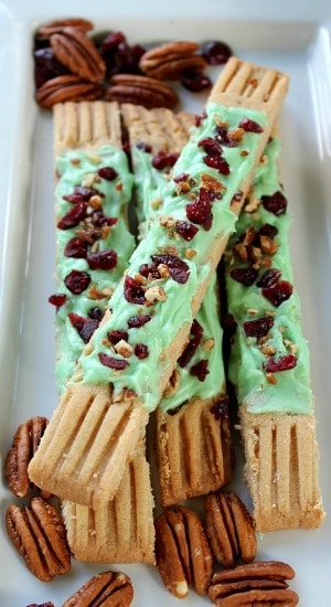 Frosted Cranberry and Pecan Fingers