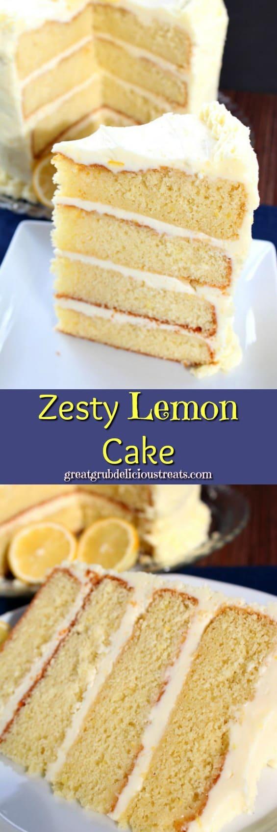 Zesty Lemon Cake -