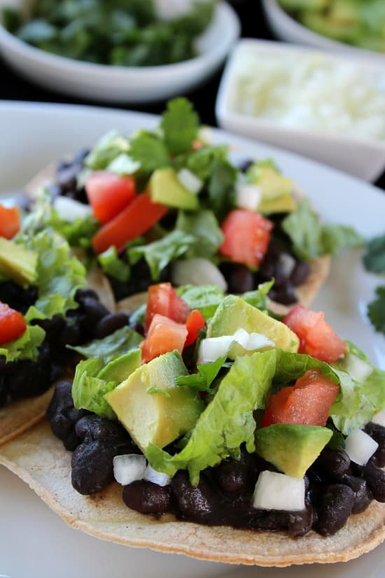 Black Bean Tostadas