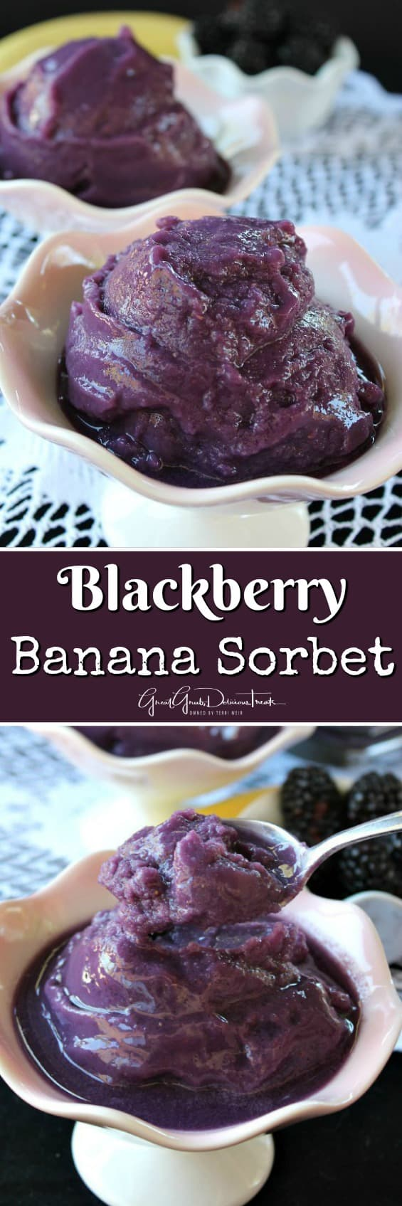 Blackberry Banana Sorbet