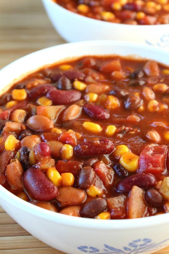 Mexican Style Three Bean Chili