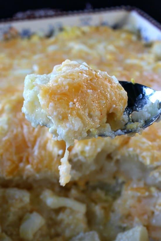 Cheesy Potato Egg Casserole