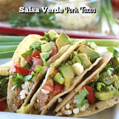 Salsa Verde Pork Tacos