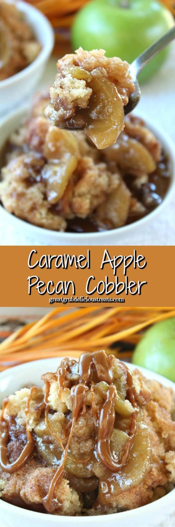 Caramel Apple Pecan Cobbler