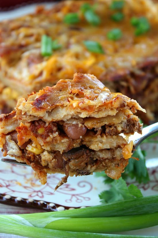 Leftover Mexican Style Crock Pot Chuck Roast Enchiladas