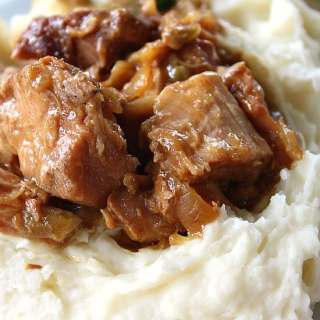 Crock Pot Pork with Mashed Potatoes