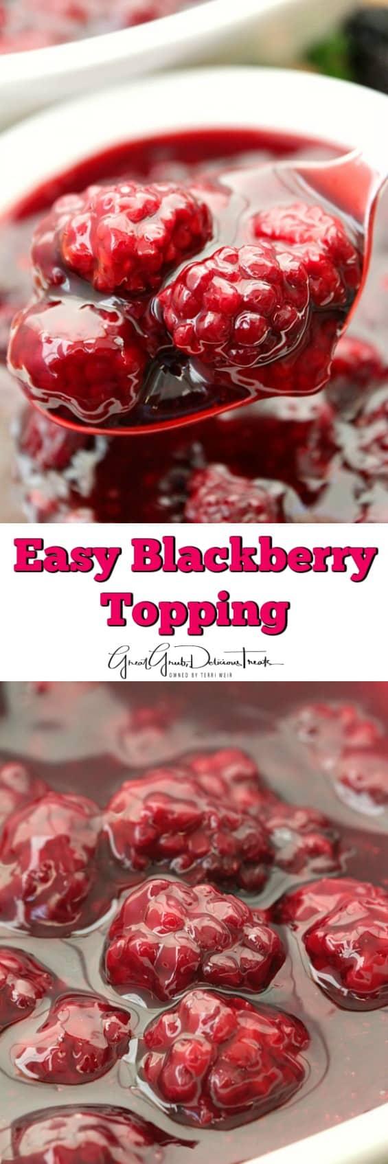 Easy Blackberry Topping