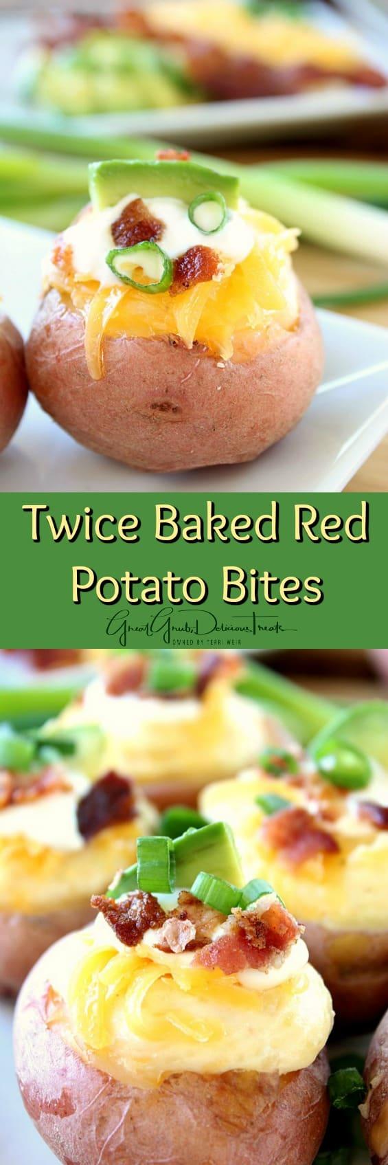 Twice Baked Red Potato Bites