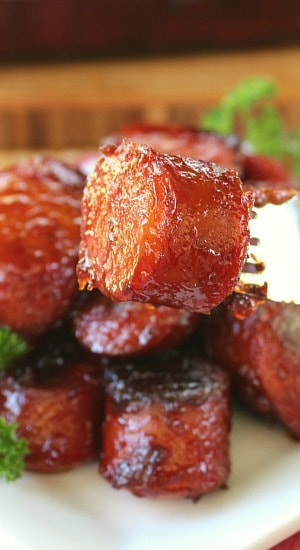 Bbq Smoked Sausage Bites Great Grub Delicious Treats