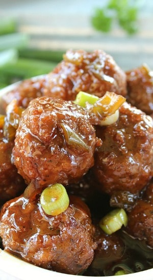 Teriyaki Meatballs with Rice
