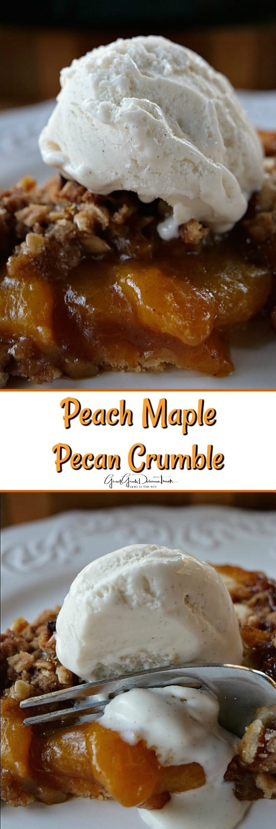 Peach Maple Pecan Crumble