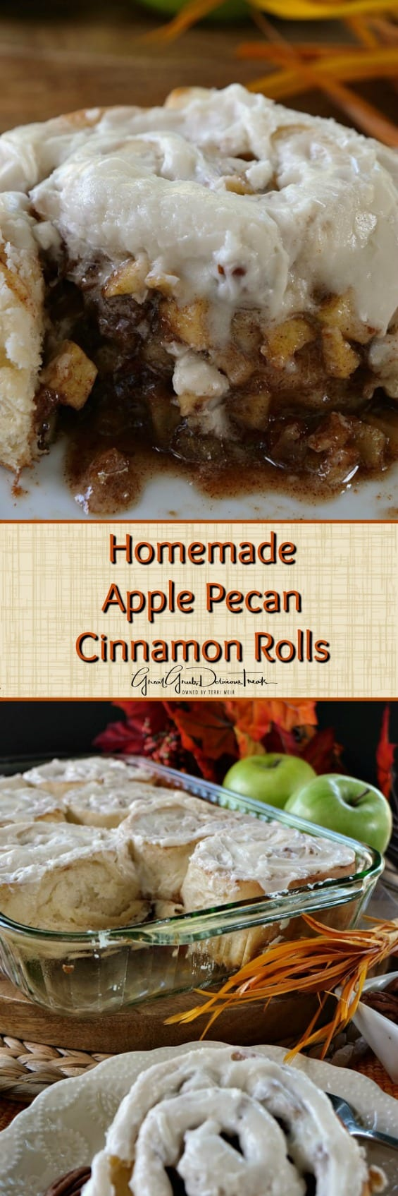 Homemade Apple Pecan Cinnamon Rolls