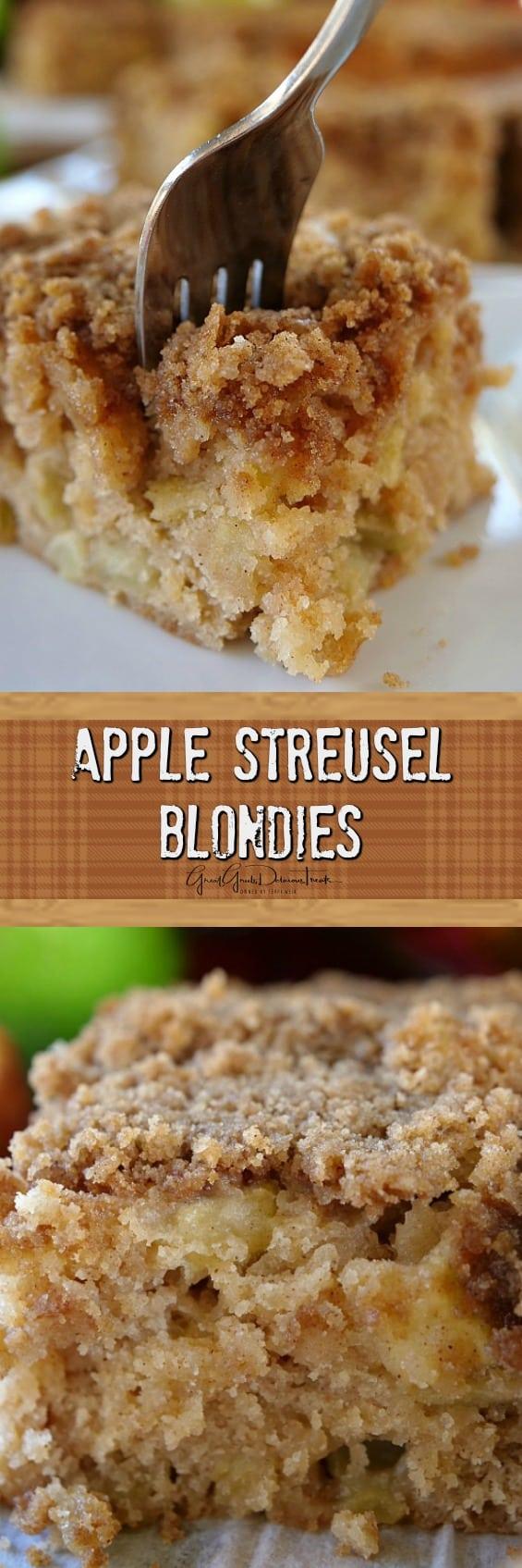 Apple Streusel Blondies