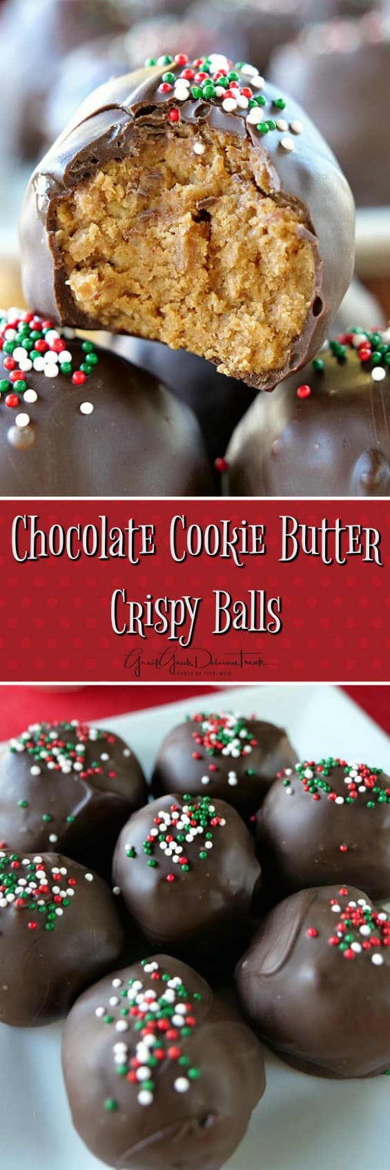 Chocolate Cookie Butter Crispy Balls