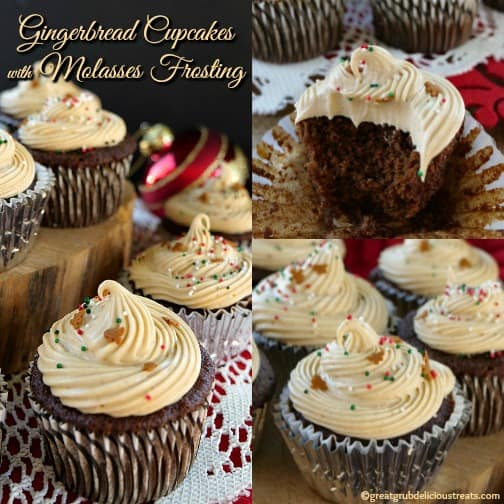 Gingerbread Cupcakes with Molasses Frosting