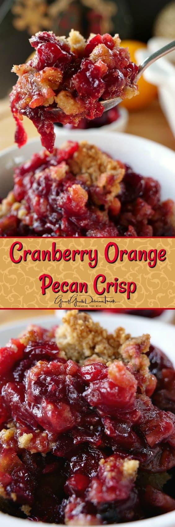 Cranberry Orange Pecan Crisp