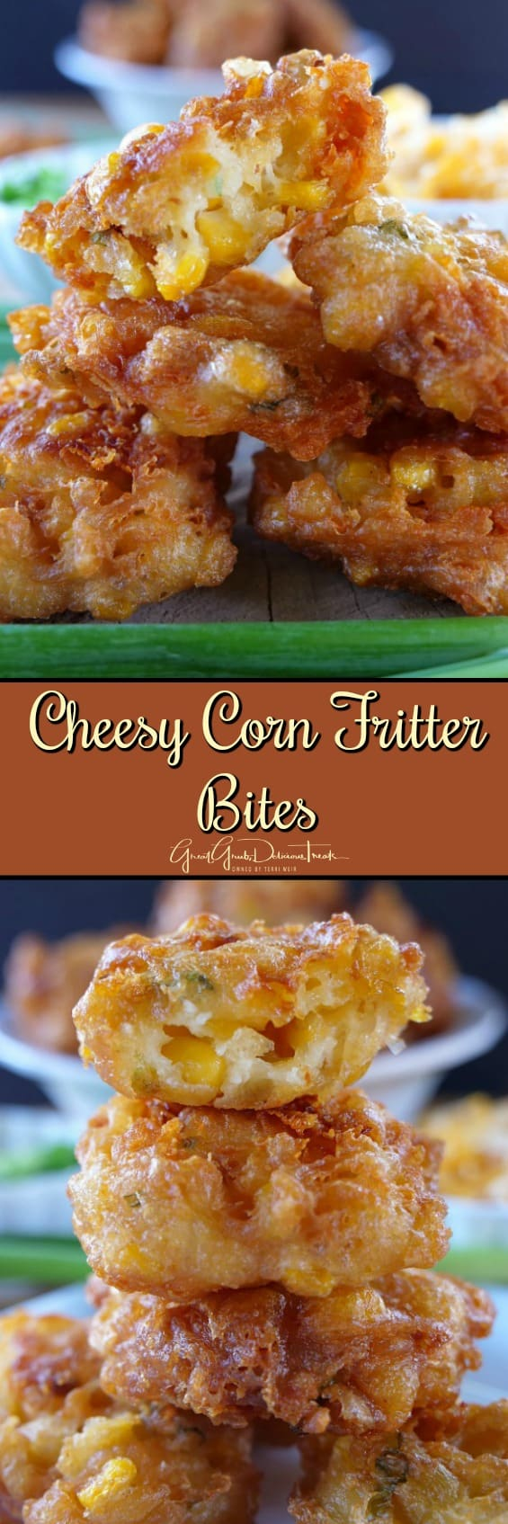 Cheesy Corn Fritter Bites