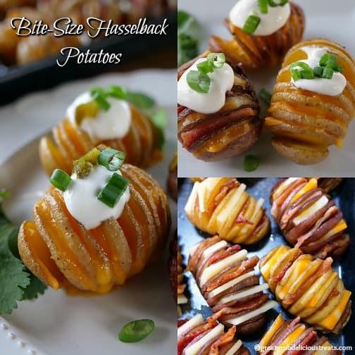 Bite-Size Hasselback Potatoes