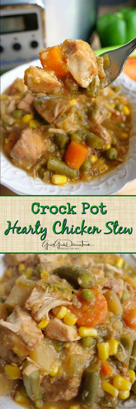 Crock Pot Hearty Chicken Stew