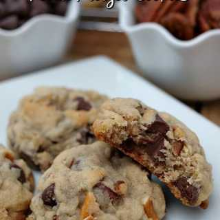 Chocolate Chip Pecan Pretzel Cookies