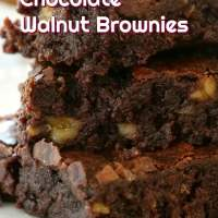 Triple Chocolate Walnut Brownies