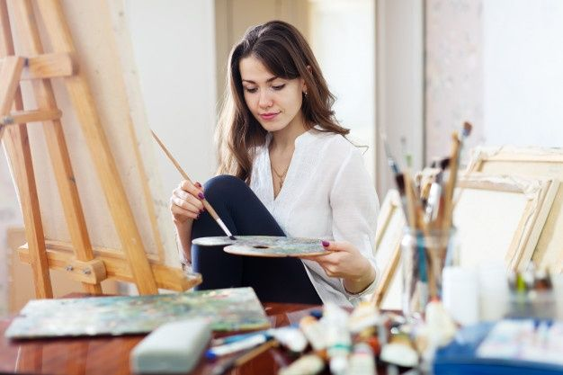 Painting Female Artist