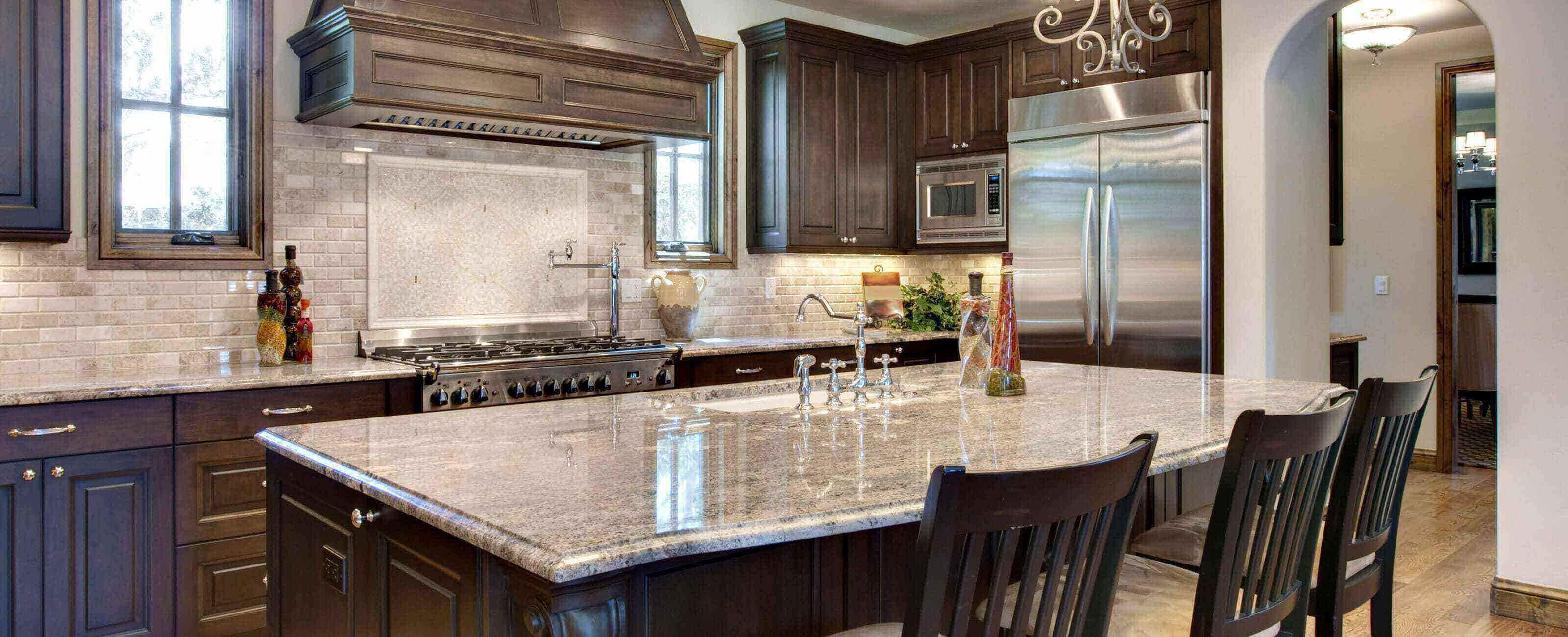 Michigan Granite Countertops - Great Lakes Granite & Marble on Black Granite Countertops With Brown Cabinets  id=33173