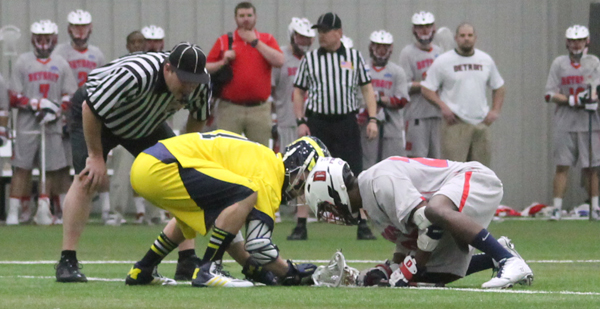 Michigan Wolverines Detroit Titans Lacrosse Brad Lott Damien Hicks