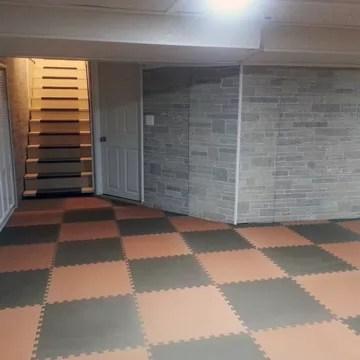 budget basement flooring ideas foam