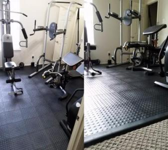 Home Gym Flooring over Carpet Options and Ideas Carpet Safe Interlocking Home Gym Tiles over Carpet