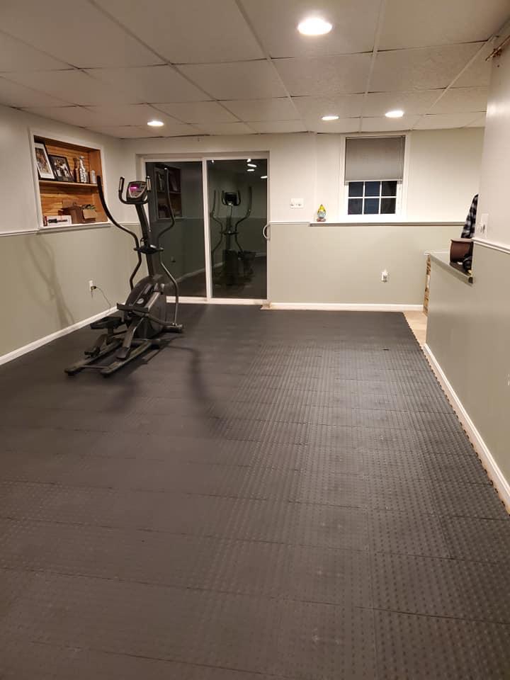 fatigue floor tile aerobic staylock
